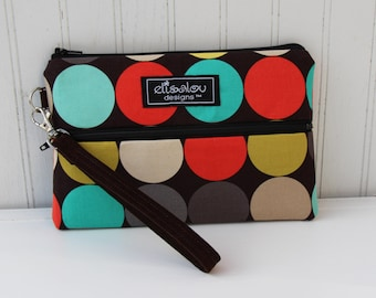 Disco Clementine Padded Wristlet Mini Purse