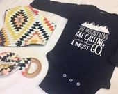 """Gender Neutral Baby Gift Onesie """"Mountains are Cal..."""