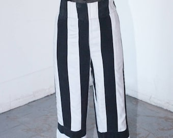 Chart Pant (blk and wht woven)
