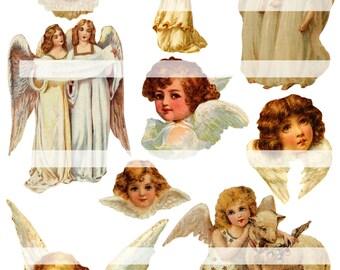 Angels Sing,  Digital Collage Sheet