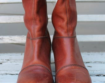 These boots were made for walking - Sassy vintage tall leather boots