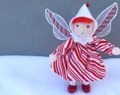 Reserved for Chris Peppermint Pixie Art Doll Ornament