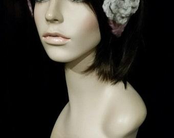 crochet headband headwrap women accessories thick chunky women power women march  ear warmer ~ annies chunky head wrap ~ pink blossom