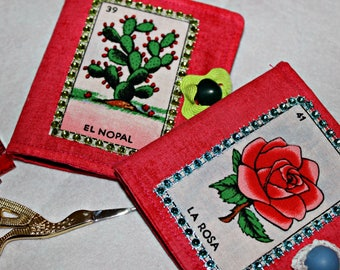 Mexican Loteria Needle Book Quiting Sewing Notions Gift