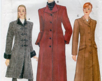 Vogue 9753 Misses Coat Size 8-10-12 Uncut Pattern Copyright 1997