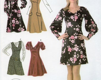 Simplicity 3620 Misses/Miss Petite Dress Or Jumper In Two Lengths Uncut Pattern Size 14-16-18-20-22 Copyright 2007