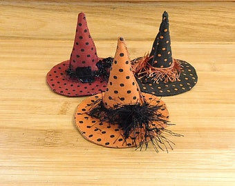 Halloween Witch Hat Ornaments Bowl Fillers Shelf Sitters Fall Decorations