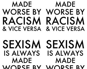 instant download postcard sexism and racism gloria steinem quote