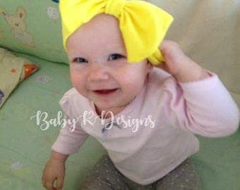 Baby Headband. Newborn Bow. Newborn Headband Baby Girl Headband. Newborn Headwrap. Baby Bow. Headband. YELLOW Bow Headband. Baby Shower Gift