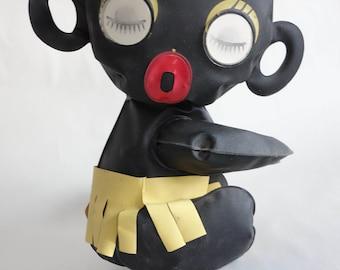 Japanese 1960s BLINKY Dakko Chan Golliwog TAKARA Lenticular Eyes Arm Gripper! Ethnic Collectibles Black Americana Collectible
