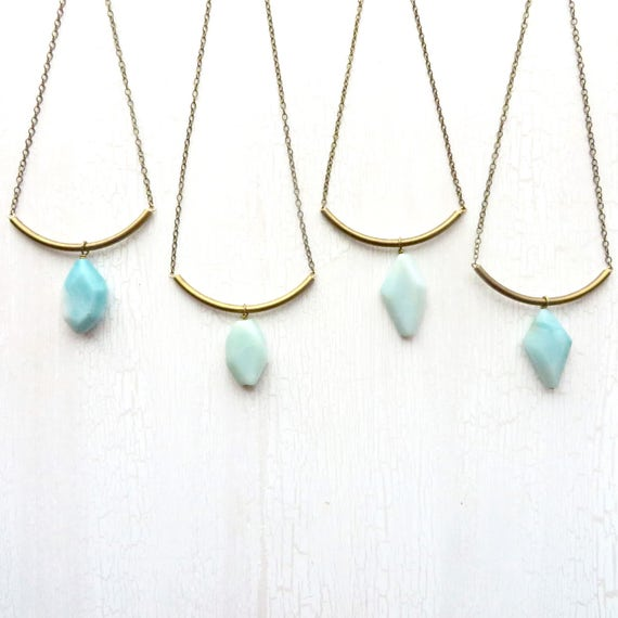 Slide Necklace > Amazonite