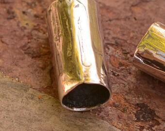 Artisan Sterling Silver Slider Bead, Plain Tube Bead, AD-616