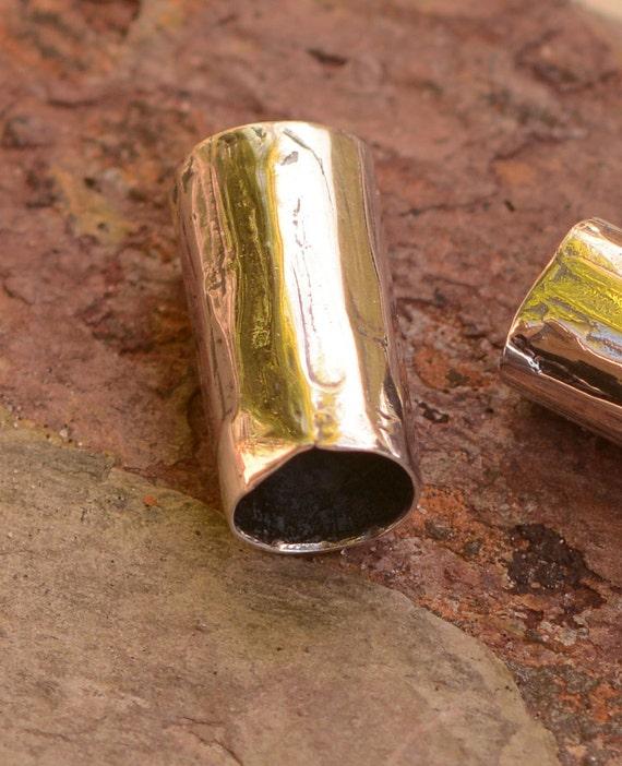 Artisan Sterling Silver Slider Bead, Plain Tube Bead
