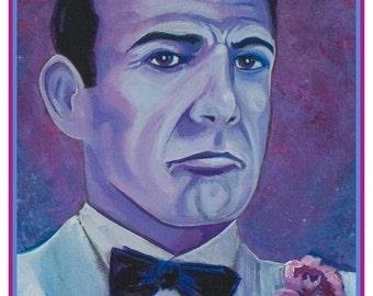 Connery. Sean Connery. 007 ART PRINT