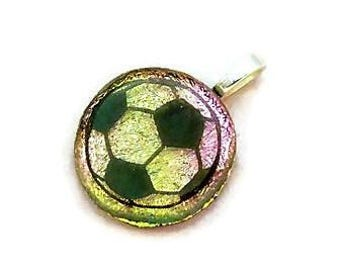 Soccer Ball Necklace, Soccer Necklace, Pink and Gold Soccer Ball Charm, Soccer Mom, Soccer Ball Pendant, Soccer Gift, Girls Soccer Gift