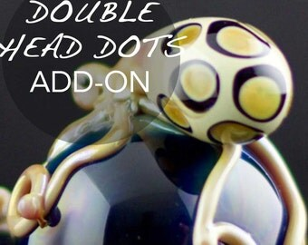 Double Head Dots Add-on / Double Layer Head Dots Upgrade / Dot Add on / Head Dots Upgrade / Dots /  You Choose the Color / Made to Order