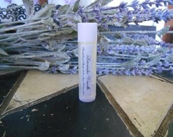 Lavender Vanilla~ Shea Butter Lip Balm~ Beeswax~ Lavender~Lip Balm