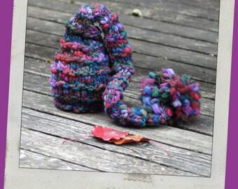 NEWBORN Photography Prop - Baby Knit Hat - Twin Prop - Elf