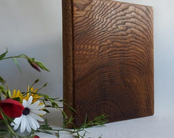 Blank Natural Grain Wood lined journal