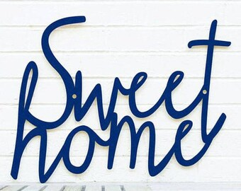 Sweet Home, Home Greeting Sign, Wood Welcome Sign, Family Wood Sign, Wood Meme Sign, Funky Wood Sign, Wood Sign Decor, Wood Word Sign