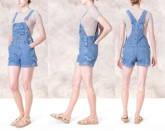 OVERALL SHORTS DENIM women Vintage 90S La Blues Small / Xs summer better Stay together romper