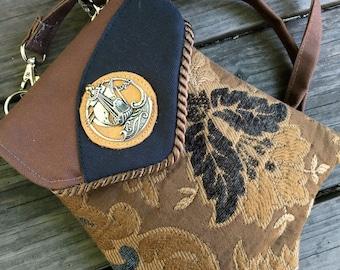 Sailing Ship Fancy Pocket Shoulder Bag Belt Bag Combination