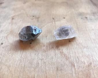Stud Earrings // Raw Stone Earrings // Crystal Jewelry // Boho Jewelry // Bohemian Jewelry // Healing Crystals // Tibetan Quartz & Petalite