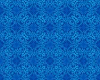 Treasures of Nature Tonal Swirl Dark Blue Jason Yenter Fabric 1 yard