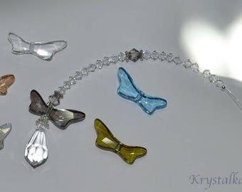 Swarovski Crystal Beaded Dragonfly Sun Catcher Car Charm, Jewelry, Rainbow Crystal Suncatcher, Dragonfly Pendant, Crystal Dragonfly Wings,