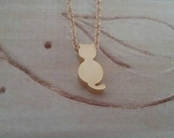 Cat Necklace - Cat Charm Necklace - Custom Necklace - Gifts For Her - Cat Lover's Necklace - Minimalist Necklace - For Daughters