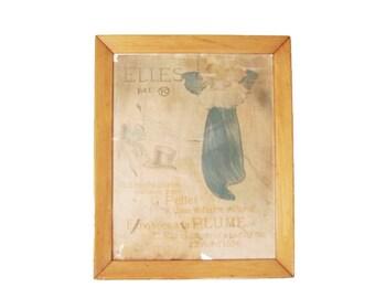 Original Antique Toulouse-Lautrec Poster - Art Nouveau Henri de Toulouse-Lautrec 'Elles' 1896 Vintage Lithograph Lithographic French Poster