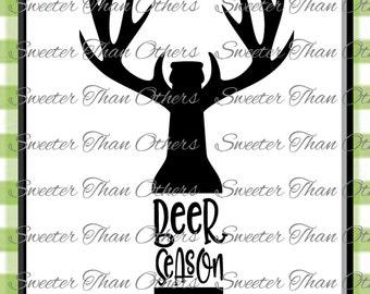 Beer Season Svg Silhouette Deer svg, Dxf Silhouette, Cameo Cricut cut file INSTANT DOWNLOAD, Vinyl Design, Htv Scal Mtc