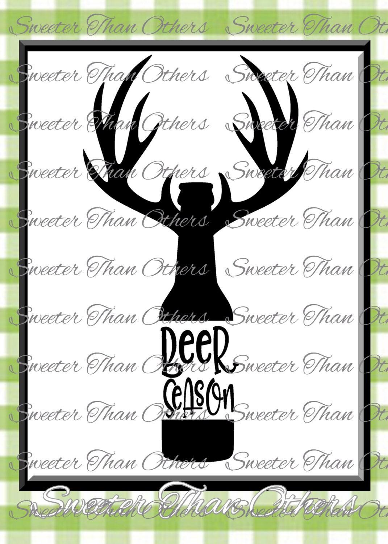 Beer Season Svg Silhouette Deer svg Dxf Silhouette Cameo