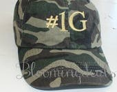 Personalized Camouflage Hat Classic Dad Cap Custom Embroidery Baseball Cap Low Profile Unstructured bio washed