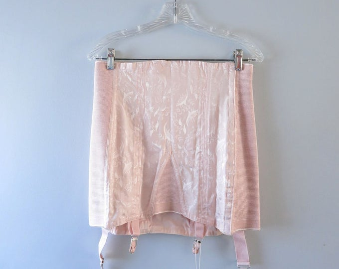Vintage Pink Girdle - 1940s Pink Satin Corset Girdle Strouse Adler Co Size L Deadstock - Pink Corset Girdle