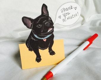 Convo Black Frenchie - Desk Decor Paper Doll