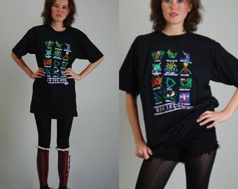 Big Island Tee Vintage 90s Black BIG ISLAND Hawaii Distressed Tourist T Shirt (l xl)