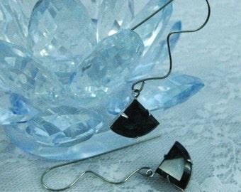 Geometric Earrings Triangle Earrings Geometric Jewelry Blue Earrings Vintage Earrings Montana Blue