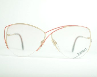 NOS Vintage Golden Metallic S Frame Big Eye  Aviator Women's Sunglasses