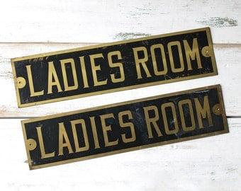 Ladies Room Sign, Vintage Bathroom Sign, Restroom, Powder Room Decor, Vintage Signs, Girls Gift