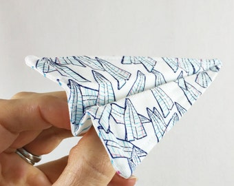 Fabric Paper Airplane PDF Pattern
