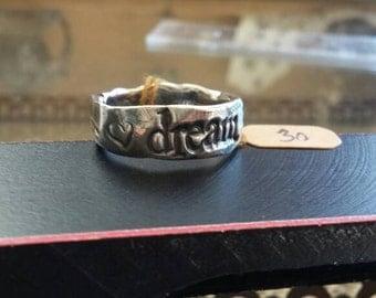 Artisan fine silver Dream ring
