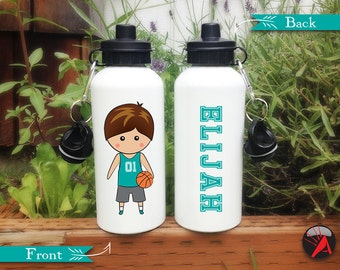 Personalized Kids Water Bottle, Boys Basketball Gift, Easter Basket Stuffers, Basketball Birthday, Cute Water Bottle, Kids Birthday Gift