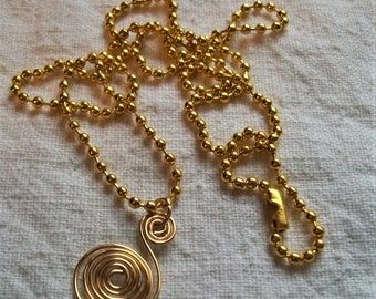 necklace pendant, Swirl Necklace, Spiral necklace, Golden necklace, Swirl Necklaces, Spiral necklaces, Unique Jewelry