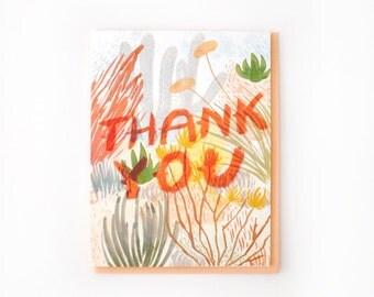 Desert Brush Thank You Card / Set of 8
