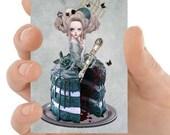 Marie Antoinette ACEO print | Rococo art | ACEO | Marie Antoinette cake | Tiny art | ACEO Print | Artist trading card | Miniature art | Art