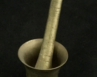 Antique, Brass, Apothecary, Mortar and Pestle, Pill Crusher
