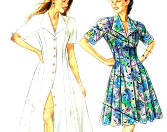 Fitted Flared Dress, New Look 6001 Sewing Pattern Size 8 10 12 14 16 18  Bust  34 36 38 40 42 44 Uncut Factory Folds