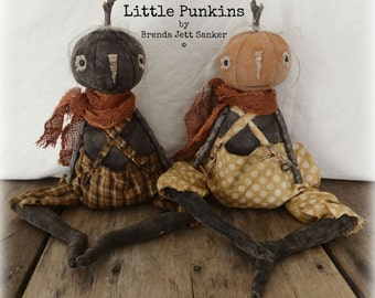 EPATTERN - Little Punkins Primitive folk art pumpkin doll epattern