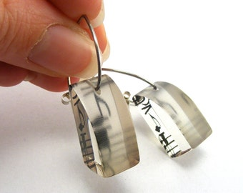 Music Note Earrings - Drop Earrings Notes - Perspex Earings - Sheet Music Dangle Earrings - Gift for Musicians